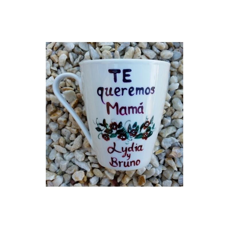 Taza Te quiero Mama Flores